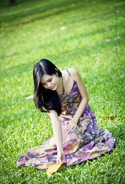chụp hình chân dung ngoại cảnh - model Mai Vy
