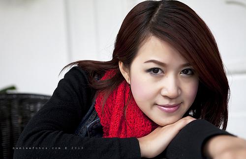 chụp hình chân dung ca sĩ Hồng Nhung