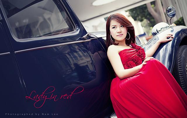 chụp hình chân dung ngoại cảnh - model Hồng Nhung