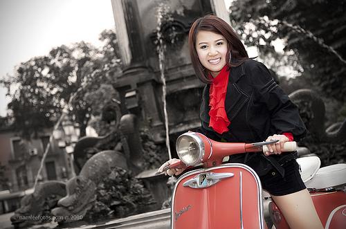 chụp hình chân dung model Hồng Nhung