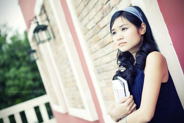hình chân dung model Mai Vy, thực hiện tại cafe Serenade