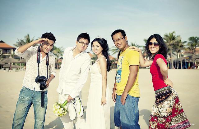 hình ảnh hậu trường buổi chụp hình cưới ngoại cảnh Laura Lai