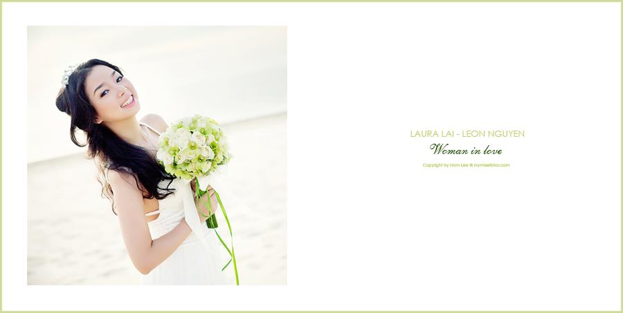 postcard album hình cưới ngoại cảnh Laura Lai