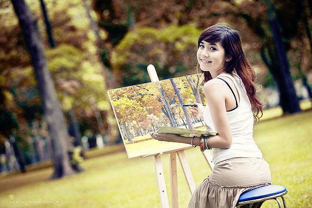 hình chân dung model Vũ Ngọc Phương Trâm