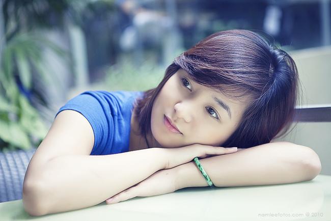 chụp hình chân dung ngoại cảnh, model Khánh Hà