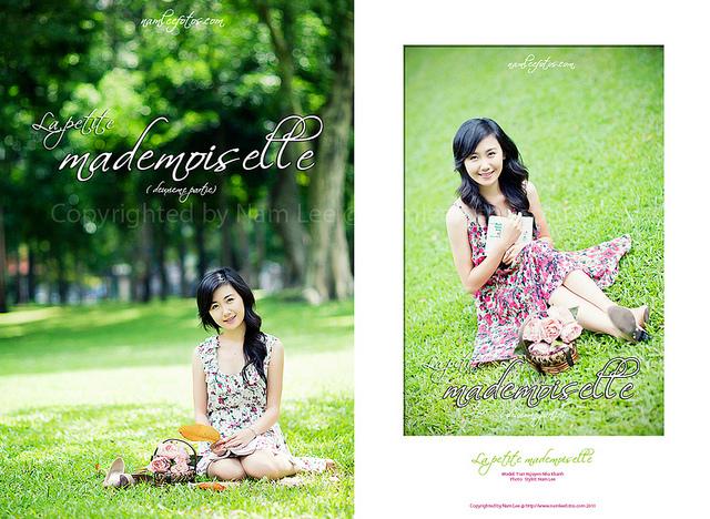 postcard hình chân dung model Nhã Khanh