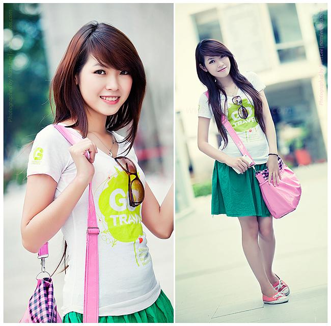 chụp hình chân dung ngoại cảnh model Quỳnh Thơ