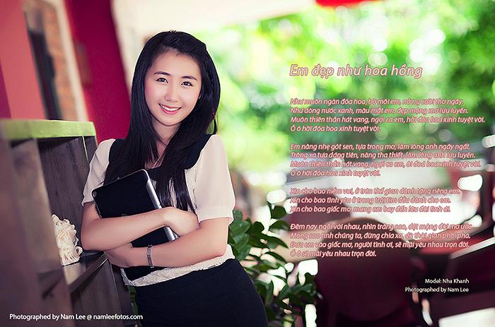 hình chân dung model Nhã Khanh chụp tại cafe Serenade Piano
